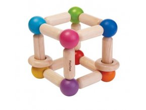 Plan Toys - Tvarovací chrastítko - čtverec