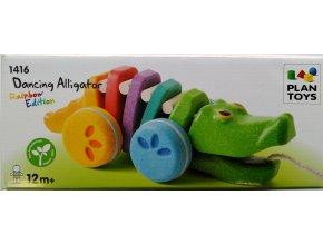 Plan Toys - Tančící krokodýl duhový