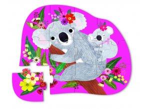 Mini puzzle - Koala (12 ks) / Mini Puzzle - Koala Cuddle (12 pc)