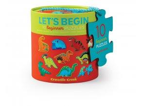 První puzzle - Dinosauři (20 ks) / Let's Begin Puzzle Dinosaurs (20 pc)