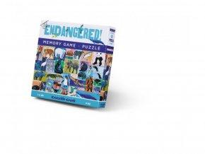 Puzzle a paměťová hra - Ohrožené druhy (48 ks) / Memory Game & Puzzle Endangered (48 pc)