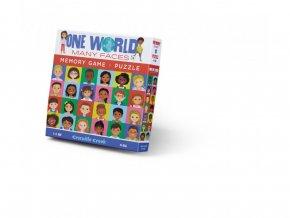 Puzzle a paměťová hra - Tváře světa (48 ks) / Memory Game & Puzzle One World, Many Faces (48 pc)