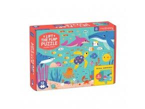 Puzzle - Lift-the-flap - Oceán (12 ks) / Puzzle - Lift-the-flap - Ocean Party (12 ps)