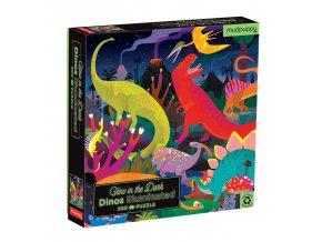 Svítící puzzle - Dinosauři (500 ks) / Glow in the Dark Puzzle Dinosaurs Illuminated (500 pc)