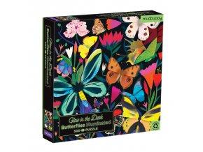 Svíticí puzzle - Motýli (500 ks) / Glow in the Dark Puzzle Butterflies Illuminated (500 pc)