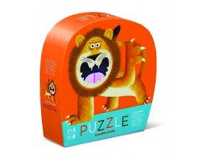 Mini puzzle - Lev (12 ks) / Mini Puzzle - Lion Roar (12 pc)