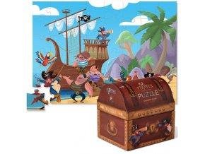 Puzzle truhlička - pirátský poklad