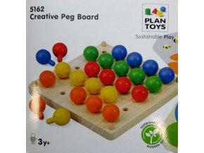 Plan Toys - Kreativní kolíčková tabule