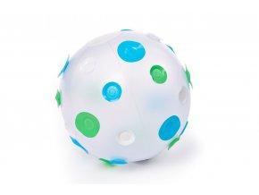 Nafukovací míč s modrými puntíky