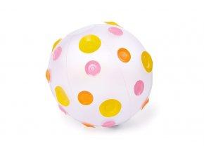 Nafukovací míč s růžovými puntíky