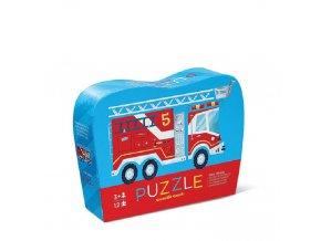 Mini puzzle hasiči (12 ks) / Mini Puzzle  Fire Truck