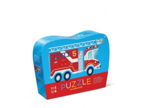 Mini puzzle - Hasiči (12 ks) / Mini Puzzle - Fire Truck (12 pc)