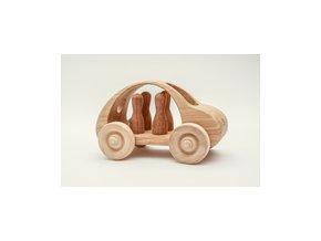 Dřevěné auto čtyřmístné Pišlické
