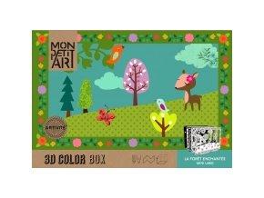 Mon Petit Art - 3D Color Box - Kouzelný les
