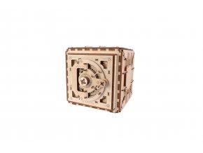 Dřevěné 3D mechanické puzzle trezor
