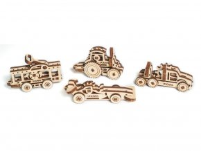 Dřevěné 3D mechanické puzzle U-fidget vozidlo