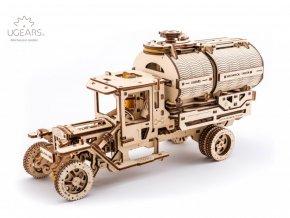 Dřevěné 3D mechanické puzzle tanker