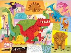 Mini puzzle truhla - Dinosauři (24 ks) / Mini puzzle chest - Dinosaur (24 pc)
