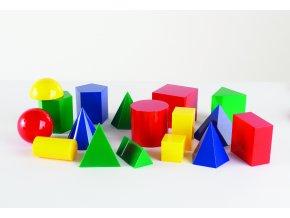 Větší set barevných geometrických tvarů (Large geometric solids)