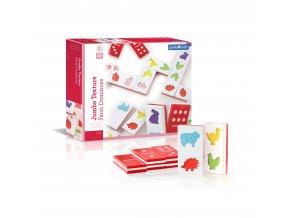 Velké hmatové domino - Farma / Jumbo texture farm dominoes