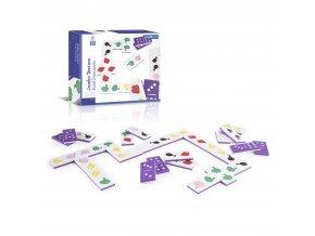 Velké hmatové domino - Jídlo (Jumbo texture food dominoes)
