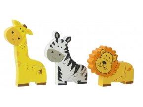 Dřevěné mini puzzle - Safari / Mini Puzzle Set - Safari