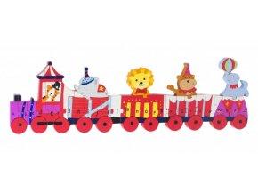 Cirkusový vlak- puzzle s abecedou