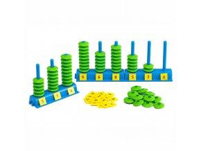 Počítej a umísti válečky (Place Value Abacus)