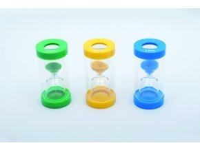 Přesýpací hodiny (ClearView Magnifying Sand Timer Set - 1/3/5 Min.)