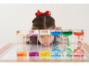 Válec s barevným olejem I. (sensory rainbow cascade) - samostatně