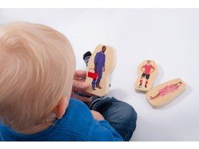 Dřevěné figurky - Povolání / Wooden community people blocks
