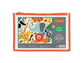 Pouch puzzle/Zoo Animals (12 pcs)