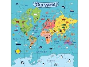 Jumbo Puzzle/Our World (25 pcs)