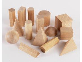 Wooden Geometric Solids /dřevěné geometrické tvary