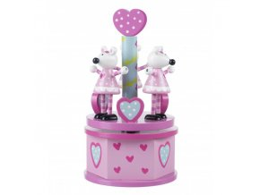 musical carousel pink mouse