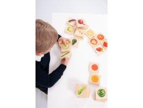 Dřevěné pexeso ovoce a zelenina / Wooden Fruit and Vegetables match