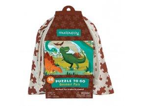 Puzzle na cesty - Dinosauří park / Puzzle To Go - Dinosaur Park (36 ks)