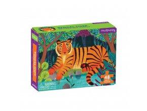 Mini puzzle - Tygr bengálský / Puzzle Mini - Bengal Tiger (48 dílků)