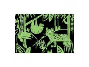 Glow in Dark Puzzle - Rainforest (100 dílků)
