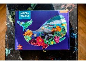 Tvarované puzzle - Život v oceánu / Shaped Puzzle - Ocean Life (300 dílků)