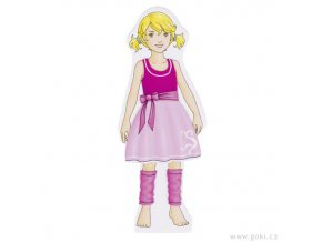 Oblékací panenka - magnetická šatní skříň