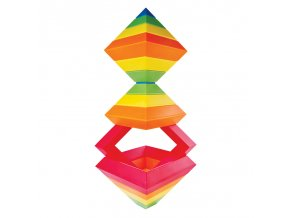 Wedge-it: Vrstvící pyramida s oranžovou (15 dílků)