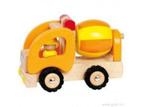 Dřevěné autíčko - míchačka