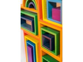 Duhový Architekt čtverec / Rainbow Architect Squares