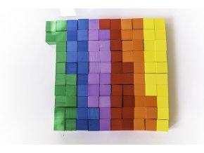 Pěnové krychle - barevné kostky