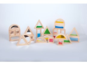 Sada s velkým S - Sensory Blocks + Mirror Blocks set 16 ks