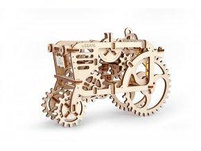 Dřevěné 3D mechanické puzzle traktor