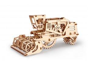 Dřevěné 3D mechanické puzzle kombajn