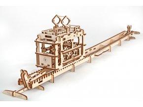 Ugears 3D mechanický model Tramvaj s kolejemi
