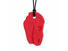 DINO BITE žvýkací přívěšek soft červena 1